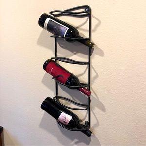 Wall Art - Black wine rack